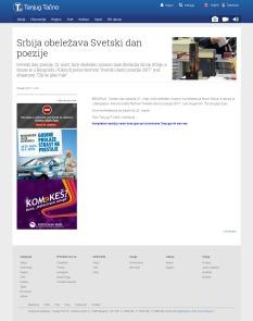 2203 - tanjug.rs - Srbija obelezava Svetski dan poezije