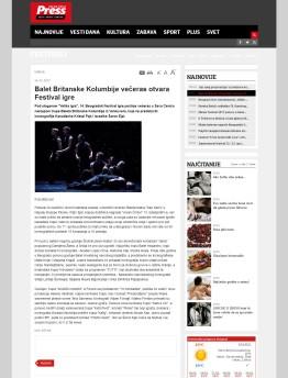 2403 - pressonline.rs - Balet Britanske Kolumbije veceras otvara Festival igre