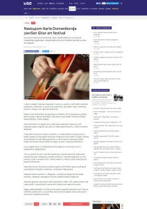 2503 - b92.net - Nastupom Karla Domenikonija zavrsen Gitar art festival
