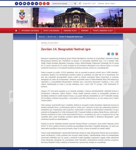 2704 - beograd.rs - Zavrsen 14. Beogradski festival igre