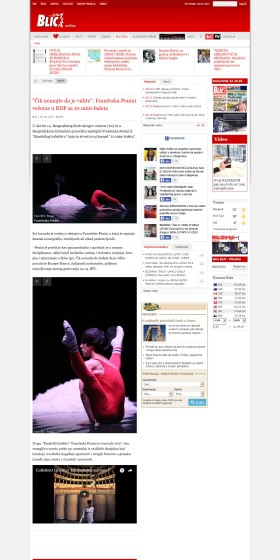 3003 - blic.rs - Cik nemojte da je vidite- Franceska Penini veceras u BDP sa 10 mini-baleta