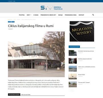 0304 - sremska.tv - Ciklus italijanskog filma u Rumi