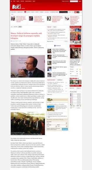 0604 - blic.rs - Manco- Italija je kulturna supersila, nasi strucnjaci mogu da pomognu srpskim kolegama