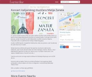 1904 - eventerbee.com - Koncert italijanskog muzicara Matije Zanete,