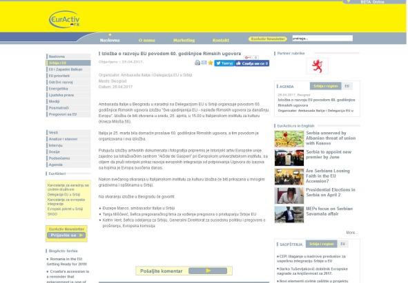 2504 - euractiv.rs - Izlozba o razvoju EU povodom 60. godisnjice Rimskih ugovora