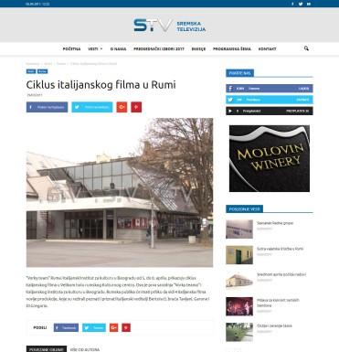 2903 - sremska.tv - Ciklus italijanskog filma u Rumi