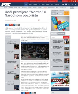 0206 - rts.rs - Uoci premijere Norme u Narodnom pozoristu