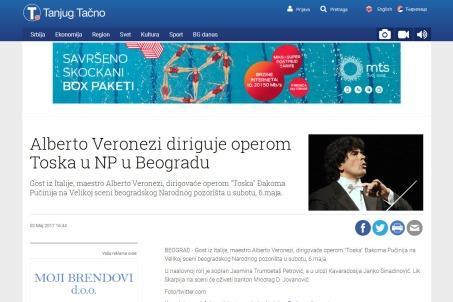 0305 - tanjug.rs - Alberto Veronezi diriguje operom Toska u NP u Beogradu