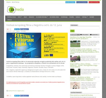 0306 - zamedia.rs - Festival evropskog filma u Negotinu od 6. do 12. juna