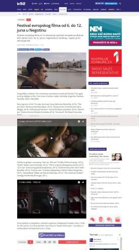 0506 - b92.net - Festival evropskog filma od 6. do 12. juna u Negotinu