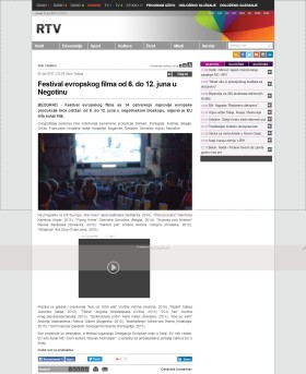 0506 - rtv.rs - Festival evropskog filma od 6. do 12. juna u Negotinu