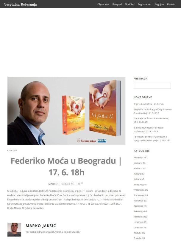 0606 - besplatnadesavanja.rs - Federiko Moca u Beogradu