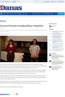 0706 - danas.rs - Otvoren Festival evropskog filma u Negotinu