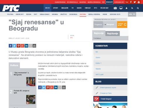0706 - rts.rs - Sjaj renesanse u Beogradu