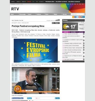 0805 - rtv.rs - Pocinje Festival evropskog filma