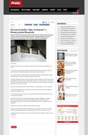 0806 - pressonline.rs - Otvorena izlozba Sjaj renesanse u Muzeju grada Beograda