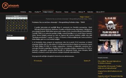 0905 - izlazak.com - Pozivamo Vas na svecano otvaranje 1. Beogradskog festivala stripa - TRAS
