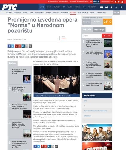 1006 - rts.rs - Premijerno izvedena opera Norma u Narodnom pozoristu