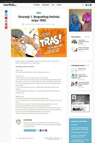 1105 - lookerweekly.com - Otvaranje 1. Beogradskog festivala stripa -TRAS