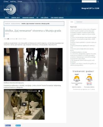 1106 - studiob.rs - Izlozba Sjaj renesanse otvorena u Muzeju grada