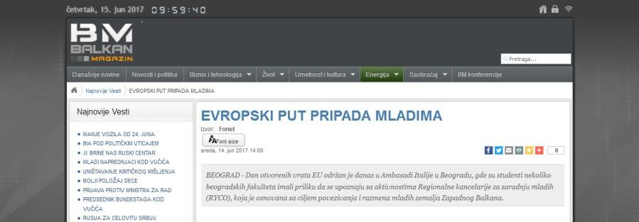 1406 - balkanmagazin.net - EVROPSKI PUT PRIPADA MLADIMA