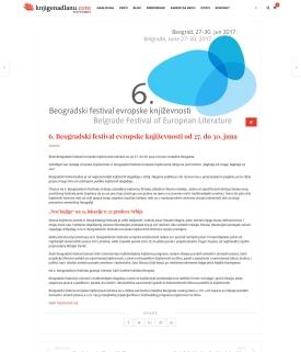 1606 - knjigenadlanu.com - 6. Beogradski festival evropske knjizevnosti od 27. do 30. juna
