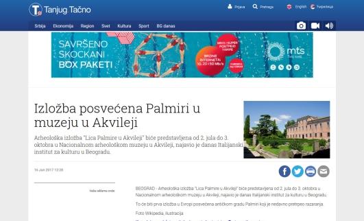 1606 - tanjug.rs - Izlozba posvecena Palmiri u muzeju u Akvileji