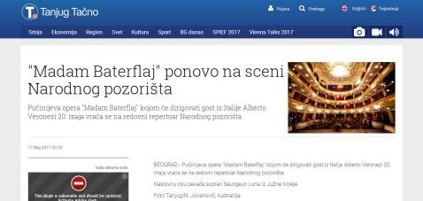 1705 - tanjug.rs - Madam Baterflaj ponovo na sceni Narodnog pozorista