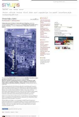 2205 - style.rs - Citanje Italije u Fabrici