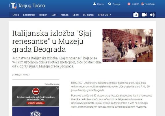 2405 - tanjug.rs - Italijanska izlozba Sjaj renesanse u Muzeju grada Beograda