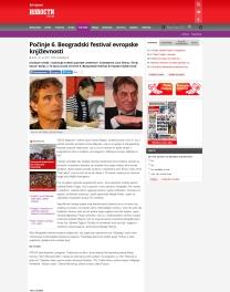 2706 - novosti.rs - Pocinje 6. Beogradski festival evropske knjizevnosti