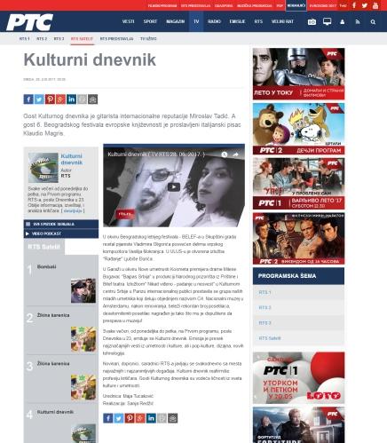 2806 - rts.rs - Kulturni dnevnik
