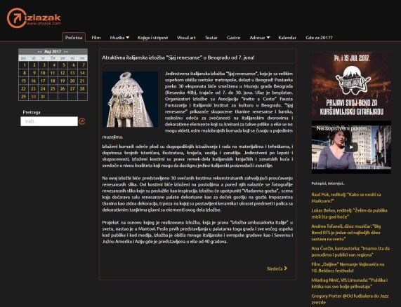 2905 - izlazak.com - Atraktivna italijanska izlozba Sjaj renesanse u Beogradu od 7. juna