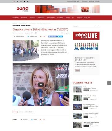 0208 - tvzonaplus.rs - Gernika otvara Nisvil dzez teatar