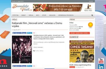 0308 - banatskevesti.rs - Italijanski film Verovali smo vecras u Domu vojske