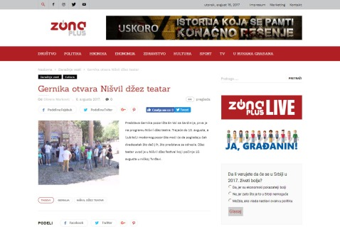 0608 - tvzonaplus.rs - Gernika otvara Nisvil dzez teatre
