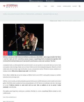 0808 - dijasporanavezi.rs - Niski violinista nastupio u predstavi Gernika