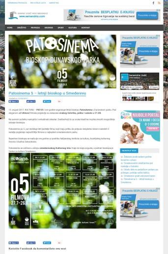 1308 - semandria.com - Patosinema 5 GÇô letnji bioskop u Smederevu