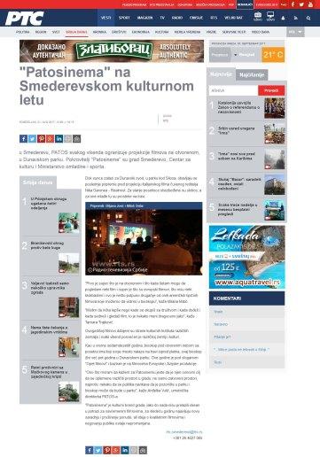 2108 - rts.rs - Patosinema na Smederevskom kulturnom letu