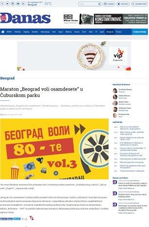 2408 - danas.rs - Maraton Beograd voli osamdesete u Cuburskom parku