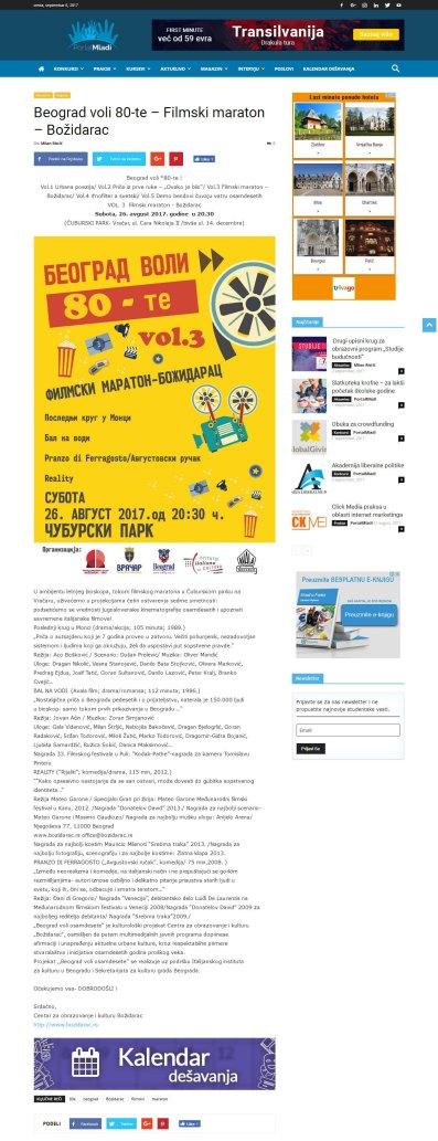 2508 - portalmladi.com - Beograd voli 80-te - Filmski maraton - Bozidarac
