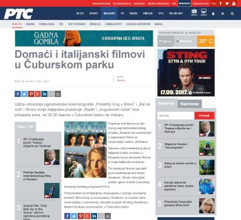 2508 - rts.rs - Domaci i italijanski filmovi u Cuburskom parku