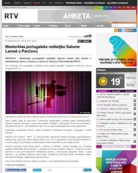 0509 - rtv.rs - Masterklas portugalske rediteljke Salome Lamas u Pancevu
