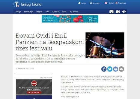 0709 - tanjug.rs - Djovani Gvidi i Emil Parizien na Beogradskom dzez festivalu