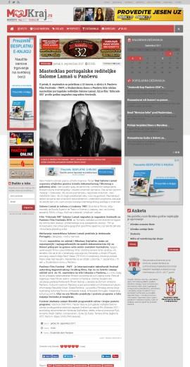 0809 - pancevo.mojkraj.rs - Masterklas portugalske rediteljke Salome Lamas u Pancevu
