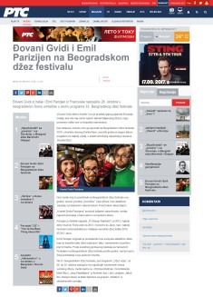 0809 - rts.rs - Djovani Gvidi i Emil Parizijen na Beogradskom dzez festivalu