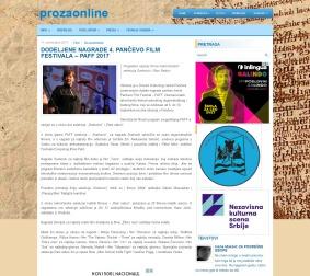 1009 - prozaonline.com - DODELJENE NAGRADE 4. PANCEVO FILM FESTIVALA GÇô PAFF 2017