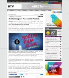 1009 - rtv.rs - Dodeljene nagrade Pancevo Film Festivala