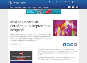 1109 - tanjug.rs - Izlozba Confronti - Poredjenja 16. septembra u Beogradu