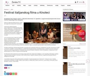 1309 - zenska.tv - Festival italijanskog filma u Kinoteci